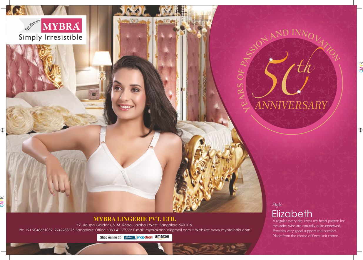 Today, MYBRA Lingerie Pvt Ltd. has a vast range in